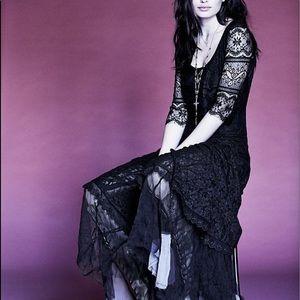 Free People Calamity Jane Dress Black RARE